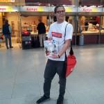 Promotionaktion am Flughafen