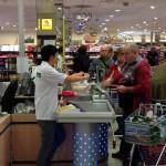 Einpackpromotion in Supermärkten