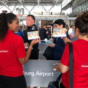 Sampling am Helmut Schmidt Flughafen Hamburg