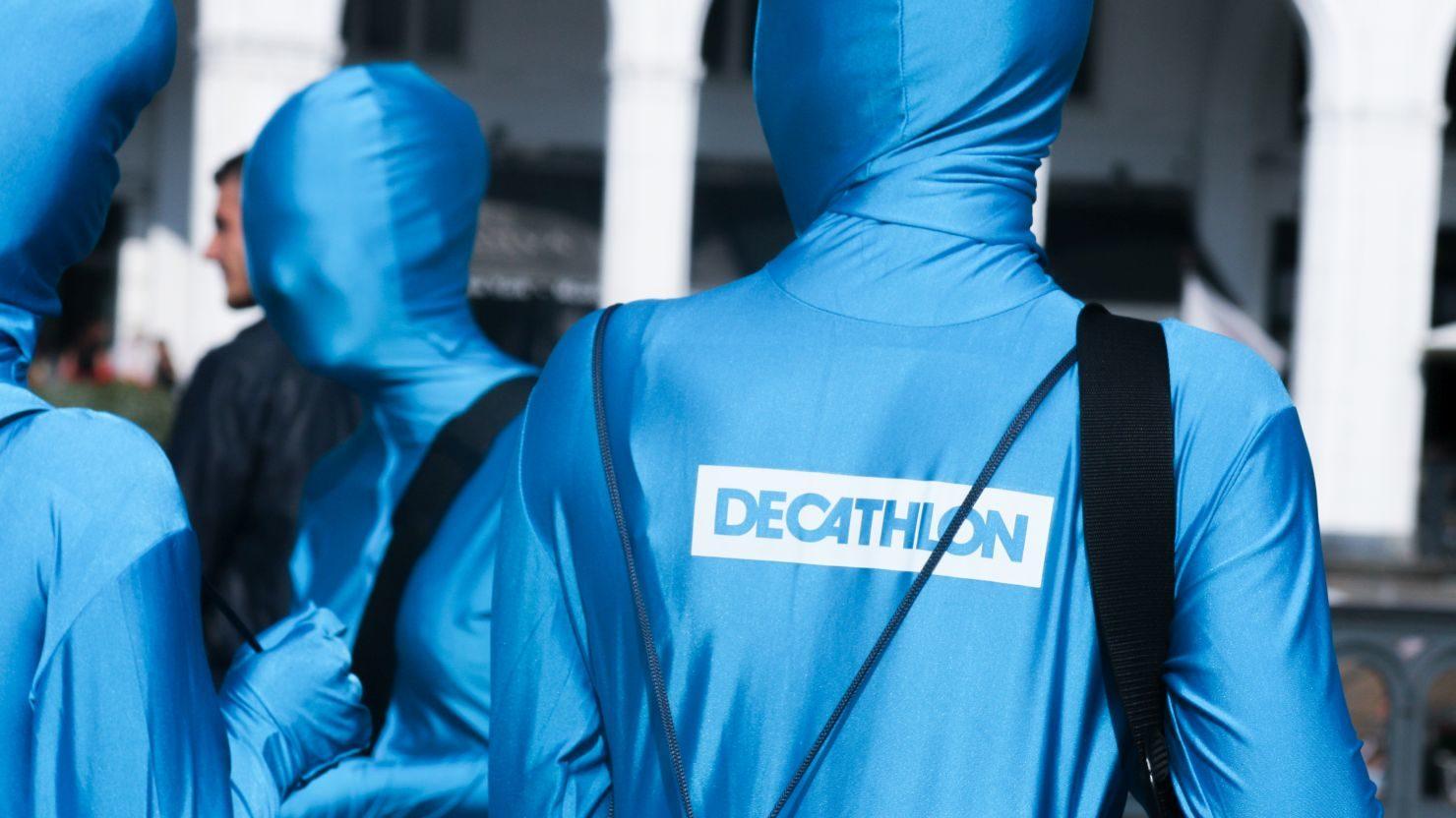 Promotionaktion in Morphsuits für Decathlon