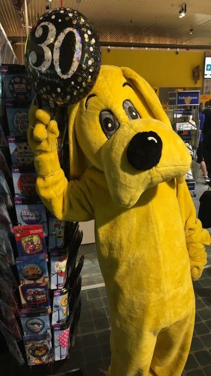 Futterhaus Maskottchen Hund