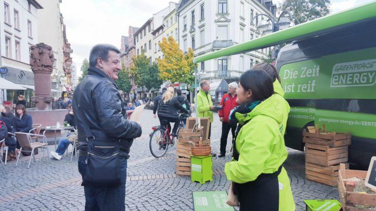 Roadshow für Greenpeace