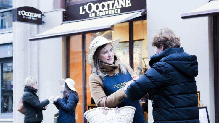 On Street Promoiton für L'Occitane