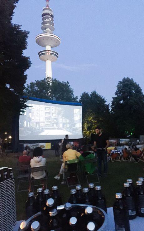 Promoitonaktion beim Open Air Kino